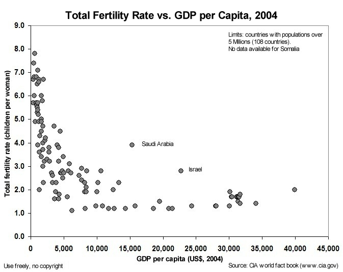 The Correlation Between Tfr And Gdp Shown Above Is Often Presented As Evidence That Poverty Causes High Birth Rates It Could Just As Easily Show That High